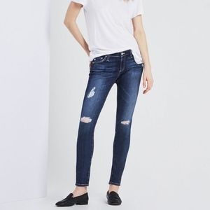 AG The Legging Ankle Skinny Jeans Distressed 27